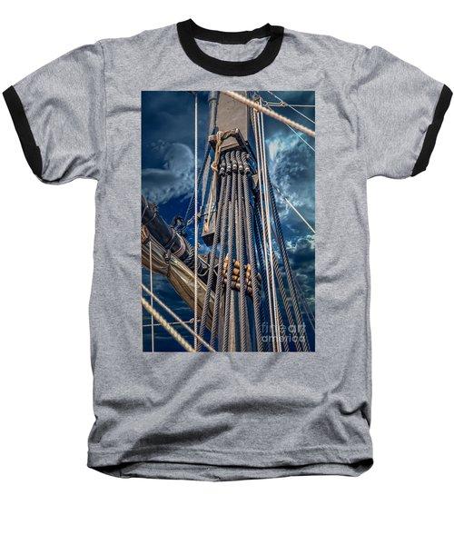 Ships Mast Baseball T-Shirt