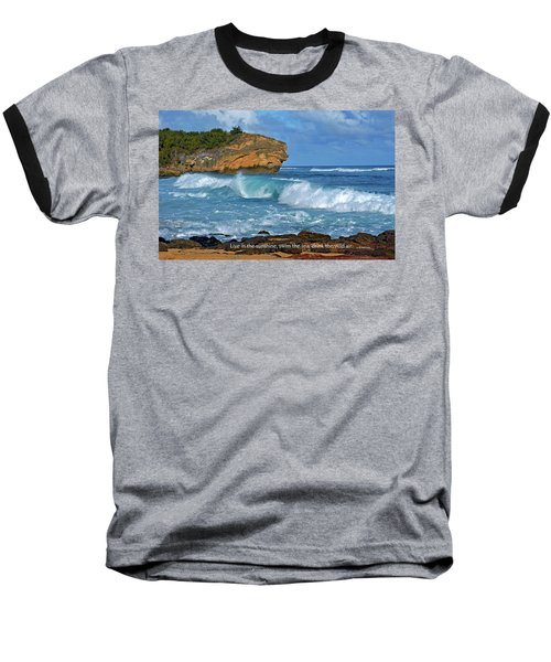 Shipwreck Beach Shorebreaks 2 Baseball T-Shirt by Marie Hicks