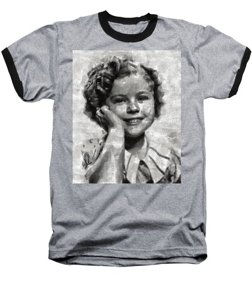 Shirley Temple By Mary Bassett Baseball T-Shirt