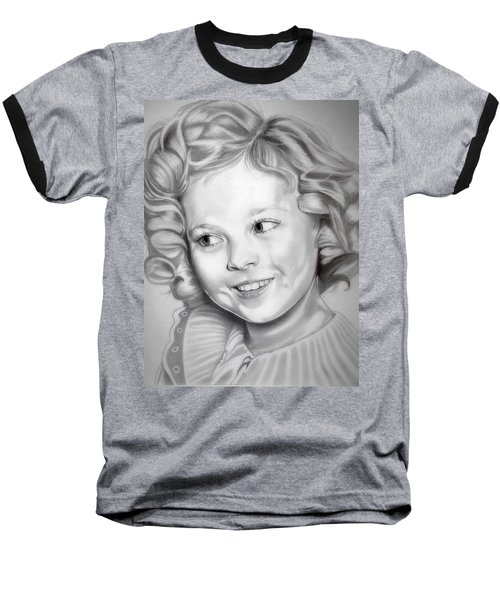 Shirley Temple Baseball T-Shirt by Fred Larucci