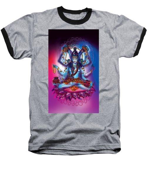 Baseball T-Shirt featuring the painting Shiva Abhishek  by Guruji Aruneshvar Paris Art Curator Katrin