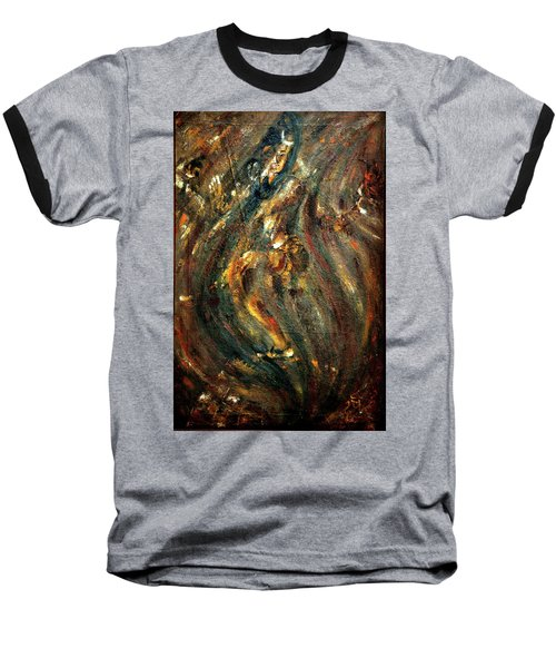 Baseball T-Shirt featuring the painting Shiva Eternal Dance by Harsh Malik