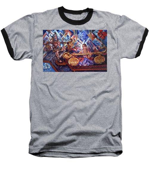 Shiva Parvati Baseball T-Shirt