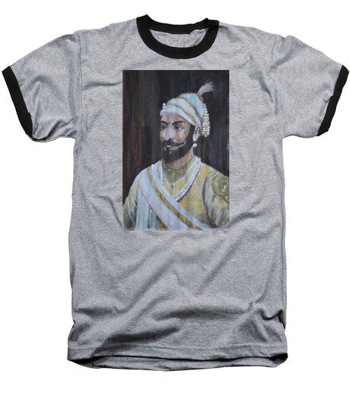 Shivaji Maharaj Baseball T-Shirt by Vikram Singh