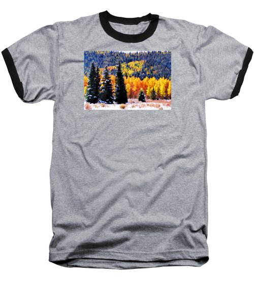 Shivering Pines In Autumn Baseball T-Shirt