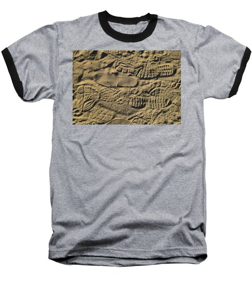Baseball T-Shirt featuring the photograph Shoe Prints by R  Allen Swezey