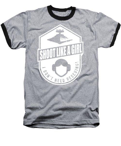 Shoot Like A Girl Baseball T-Shirt