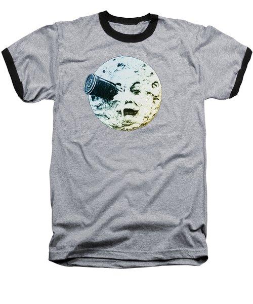 Shoot The Moon Baseball T-Shirt by Bill Cannon