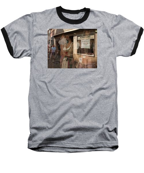 Shop Window Reflection Baseball T-Shirt