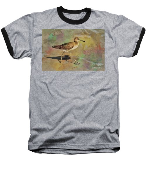 Baseball T-Shirt featuring the painting Shore Bird Beauty by Deborah Benoit