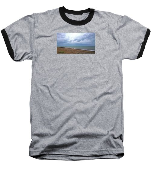 Baseball T-Shirt featuring the photograph Shoreham Shoreline by Anne Kotan