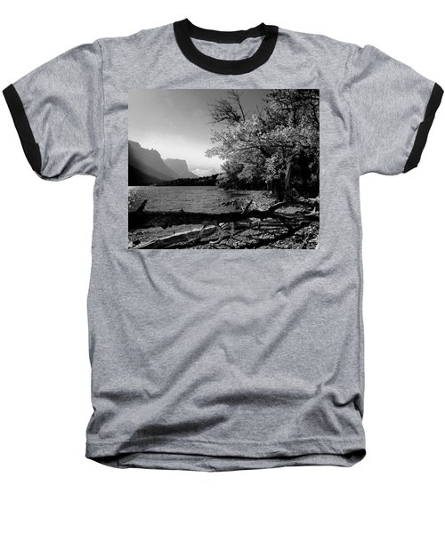 Shoreline Black And White Baseball T-Shirt