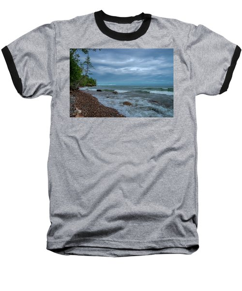 Shoreline Clouds Baseball T-Shirt