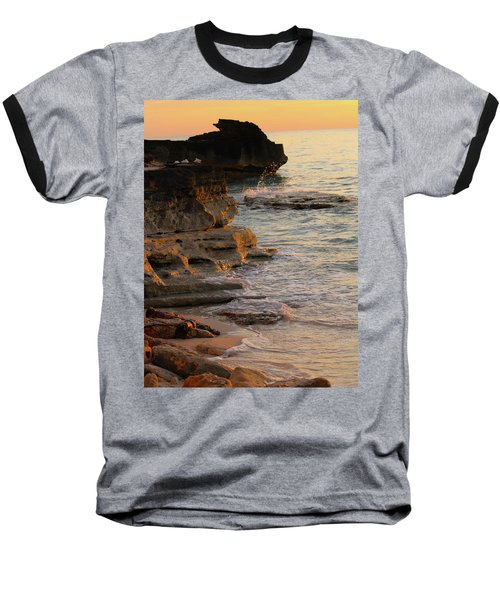 Shoreline In Bimini Baseball T-Shirt