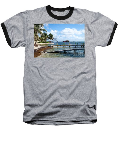 Shoreline Baseball T-Shirt by Lawrence Burry