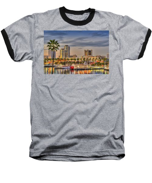 Shoreline Village Rainbow Harbor Marina Baseball T-Shirt