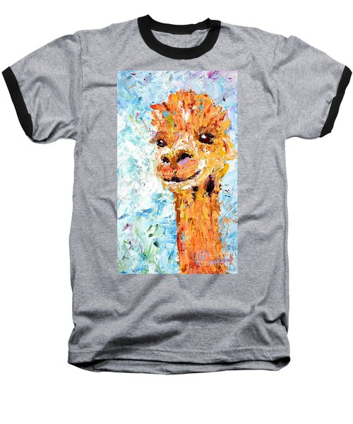 Shorn Alpaca. Where's My Fleece? Baseball T-Shirt