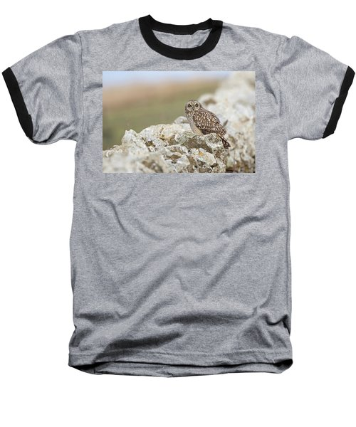 Short-eared Owl In Cotswolds Baseball T-Shirt
