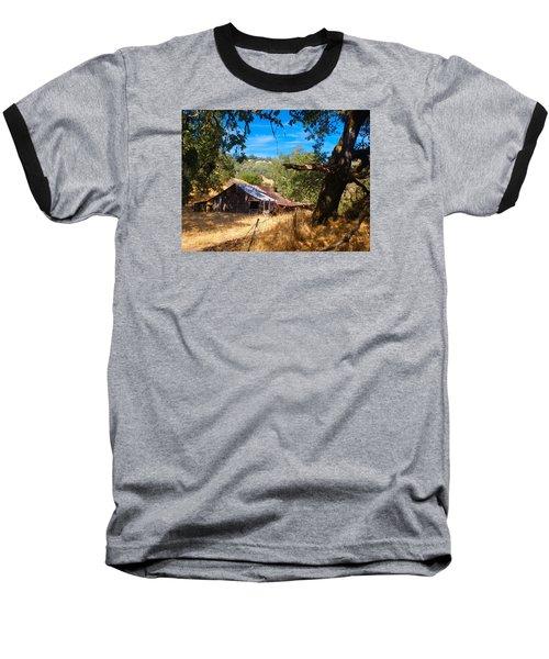 Baseball T-Shirt featuring the photograph Short Legged Barn by Laura Ragland