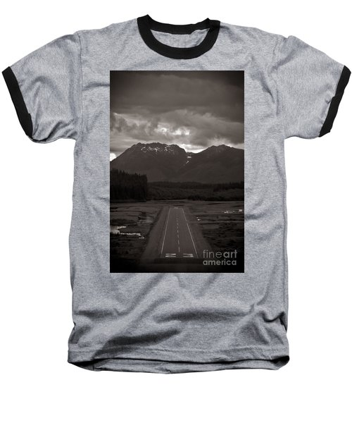 Short Runway Baseball T-Shirt by Darcy Michaelchuk