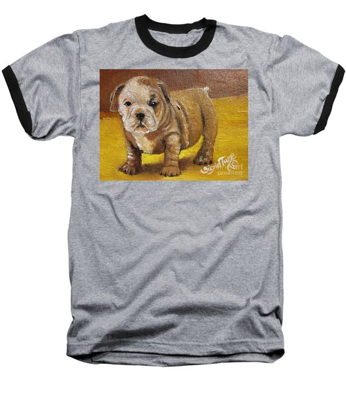 Chloe The   Flying Lamb Productions      Shortstop The English Bulldog Pup Baseball T-Shirt