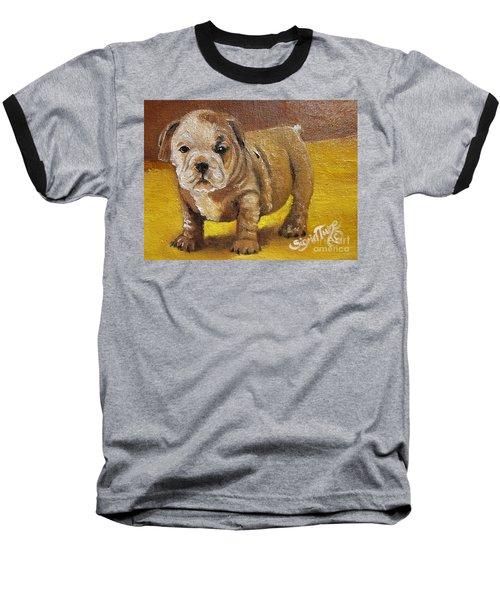 Chloe The   Flying Lamb Productions      Shortstop The English Bulldog Pup Baseball T-Shirt