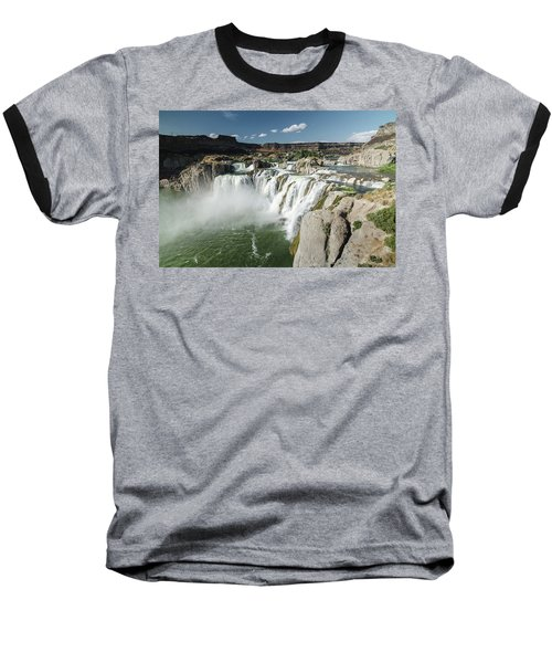 Baseball T-Shirt featuring the photograph Shoshone Falls by Margaret Pitcher