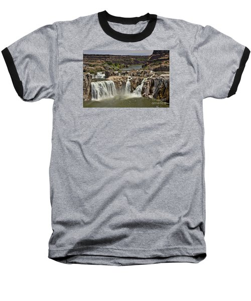 Baseball T-Shirt featuring the photograph Shoshone Falls by Richard Lynch