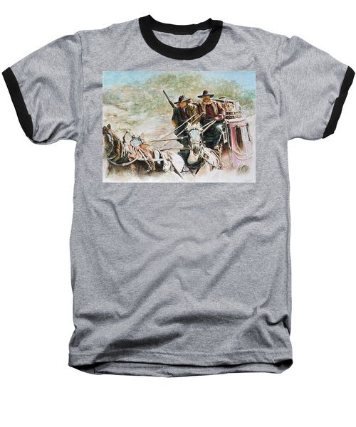 Shot Gun Baseball T-Shirt by Traci Goebel