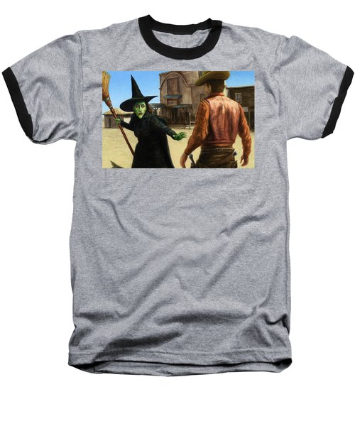 Baseball T-Shirt featuring the painting Showdown by James W Johnson