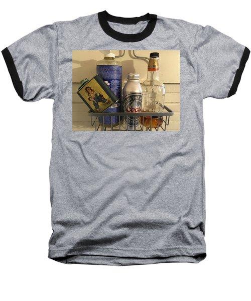 Shower Caddy 2 Baseball T-Shirt by Josh Williams
