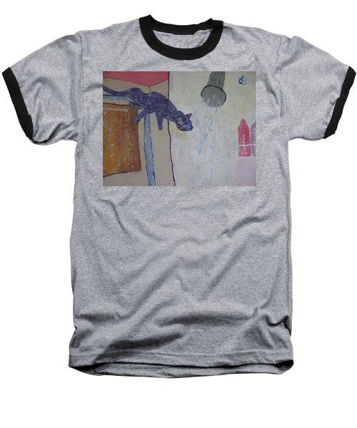 Shower Cat Baseball T-Shirt