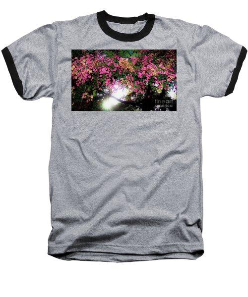 Shower Tree Flowers And Hawaii Sunset Baseball T-Shirt