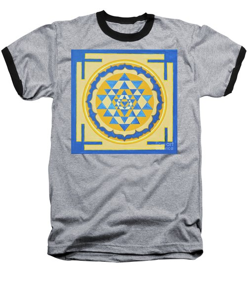 Shri Yantra For Meditation Painted Baseball T-Shirt
