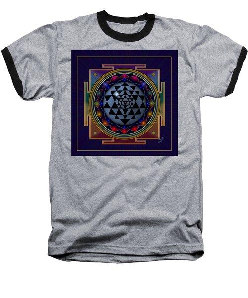 Shri Yantra Baseball T-Shirt