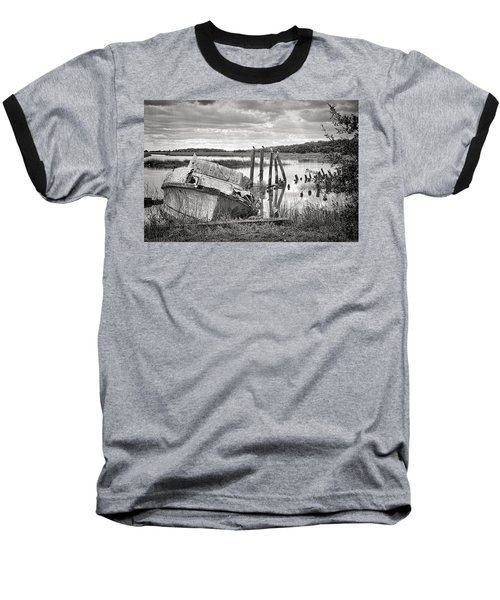Shrimp Boat Graveyard Baseball T-Shirt by Scott Hansen