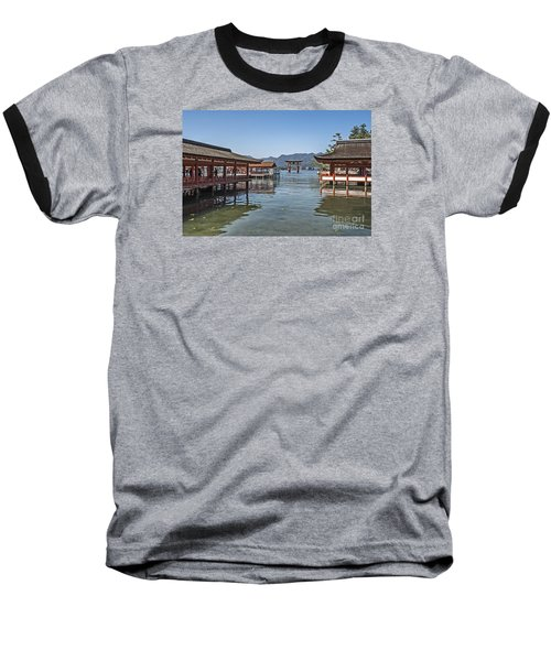 Baseball T-Shirt featuring the photograph Shrine Over Water by Pravine Chester