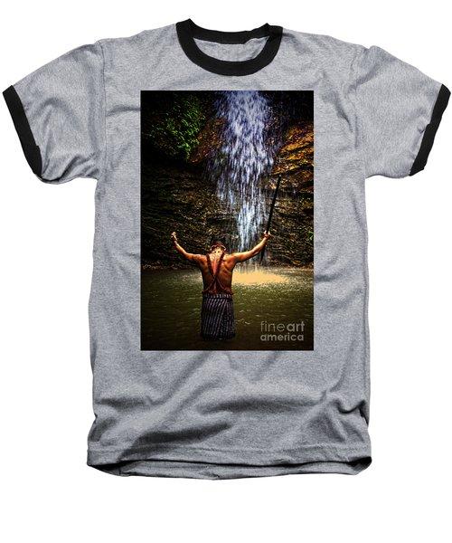 Baseball T-Shirt featuring the photograph Shuar Shaman At Sucua Ecuador by Al Bourassa