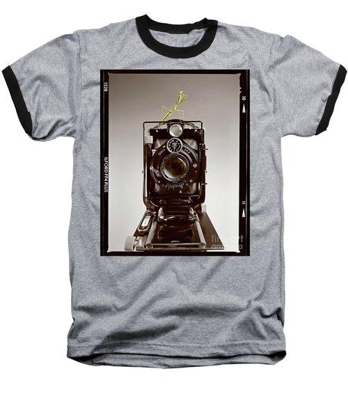 Baseball T-Shirt featuring the photograph Shutterbug Mantis by Martin Konopacki