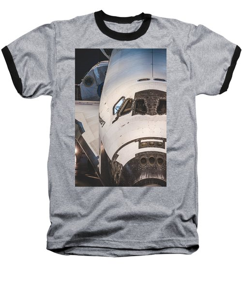Shuttle Close Up Baseball T-Shirt by David Collins