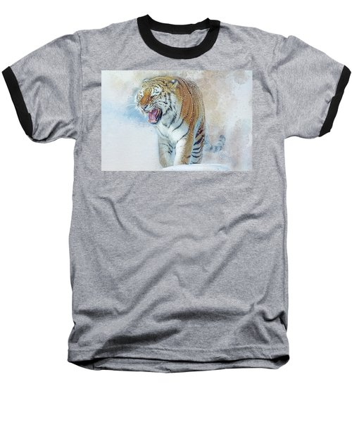Siberian Tiger In Snow Baseball T-Shirt