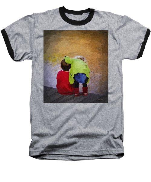 Sibling Love Baseball T-Shirt by Brian Wallace