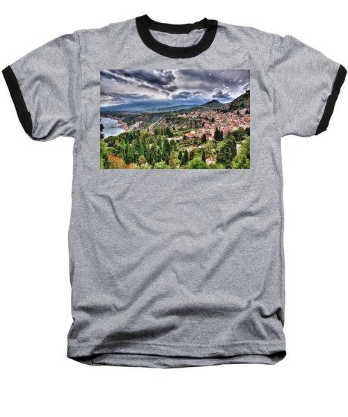 Sicilian Coast Baseball T-Shirt by Patrick Boening