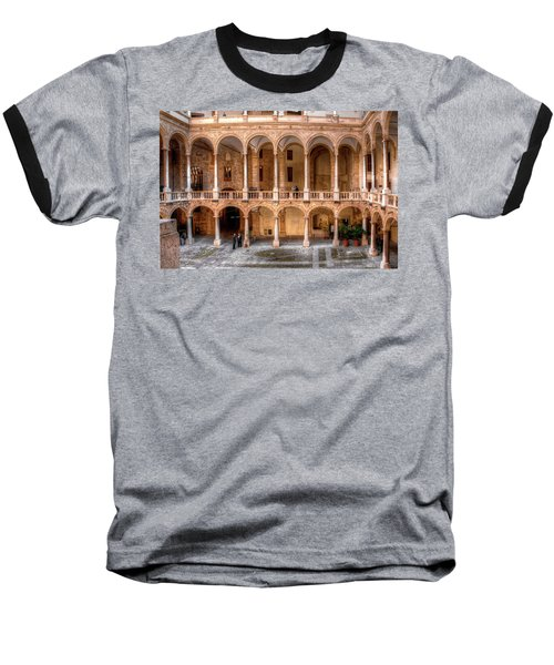 Sicilian Parliament Bldg Baseball T-Shirt by Patrick Boening