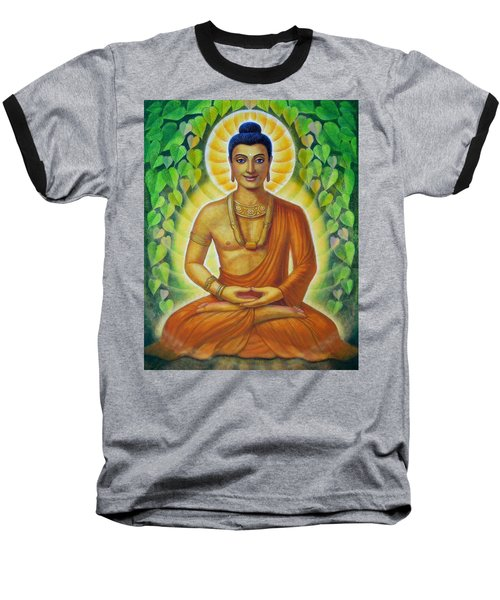 Baseball T-Shirt featuring the painting Siddhartha by Sue Halstenberg