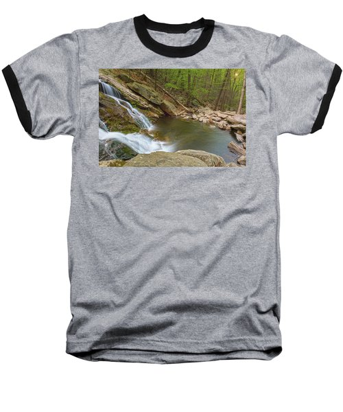 Side Slide Into The Pool Baseball T-Shirt by Angelo Marcialis
