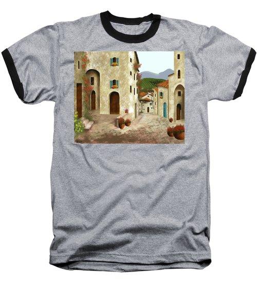 side streets of Tuscany Baseball T-Shirt by Larry Cirigliano