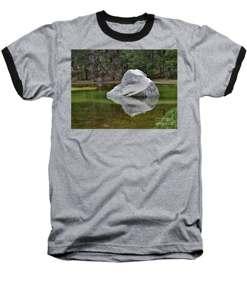 Side View Of A Rock At Mirror Lake Baseball T-Shirt by Debby Pueschel