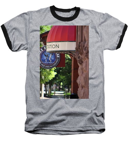 Sidewalk View Jazz Station  Baseball T-Shirt