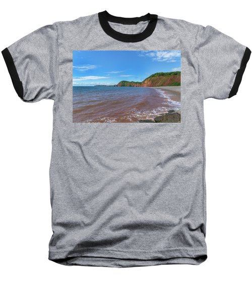 Baseball T-Shirt featuring the photograph Sidmouth Jurassic Coast by Scott Carruthers